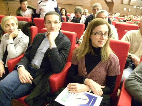 Davide Bardelli e Silvia Magni, entrambi Premio Arengario, in platea (Foto Nastasi)