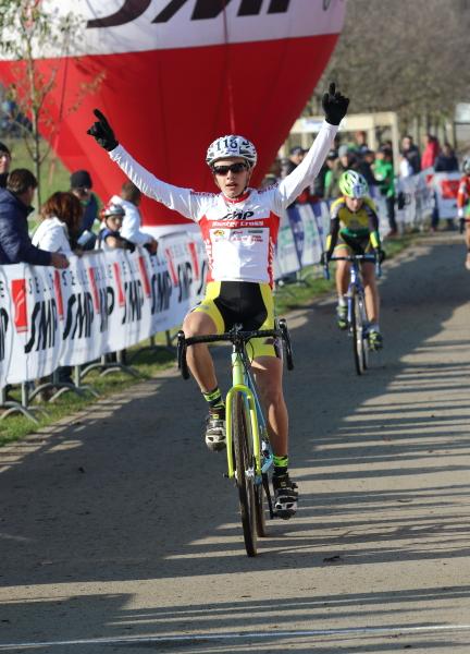 Alessandro Verre vincitore gara allievi 1^ anno (Foto Kia)