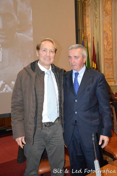 Gigi Sgarbozza col figlio di Bruno Monti
