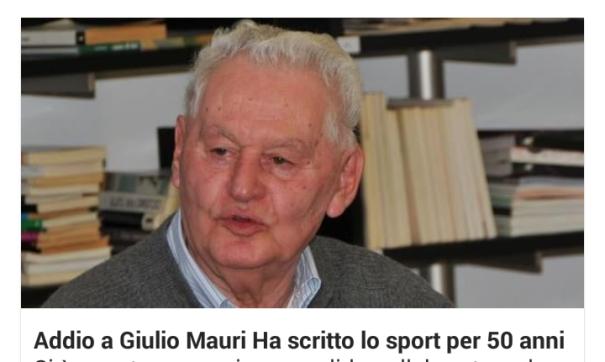 02.01.16 - Foto di Giulio Mauri deceduto oggi 02.01.2016