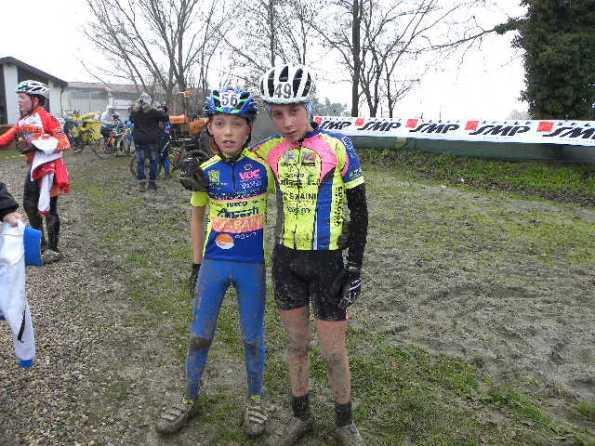 Carpene Gianmarco ed Edoardo Zamperini (Off Alberti Val D'Illasi) protagonisti nella gara Esordienti 1^ anno (Foto Nastasi)