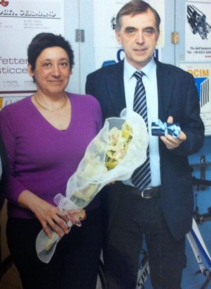 Antonietta Ferrari nel giorno del suo 5o^ compleanno col marito Gian Antonio Marcelli