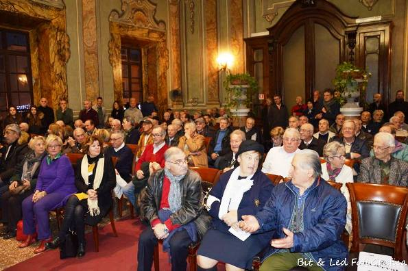 La Sala nobile occupata in ogni ordine di posti