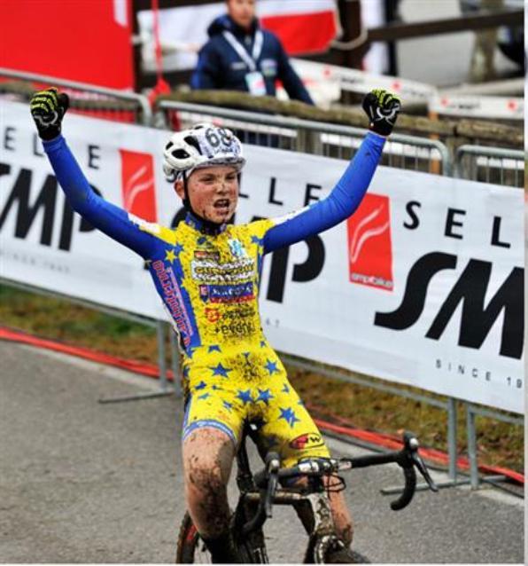 Gabriel Fede della Scuola Ciclismo Cadrezzate TRICOLORE Esordienti 1^ anno (Scanferla)