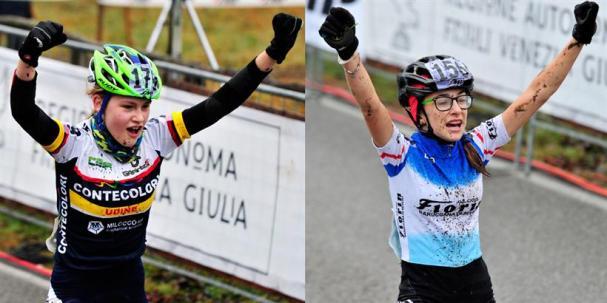 Elisa Rumac Tricolore D. Esord 1^ anno e a dx, Nicole Pesse, Tricolore D. Esord 2^ anno (Foto Soncini)