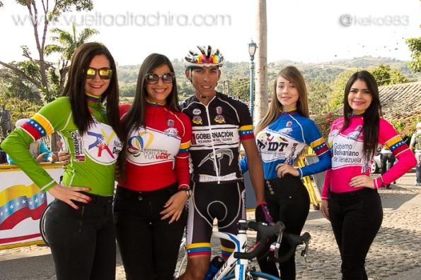 Le 4 maglie della 51^ Vuelta al Tachira