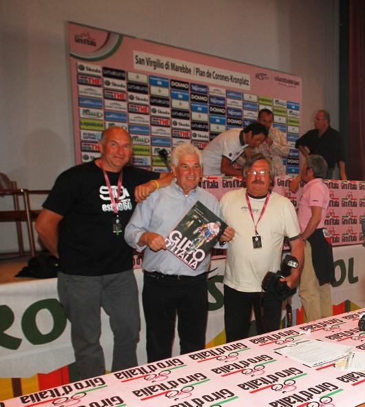 da sx, Roberto Bettini, Remo Mosna e Antonio Pisoni