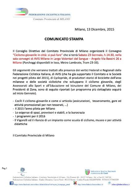 20.01.2016 - Ciclismo a Milano - Si puo^ fare