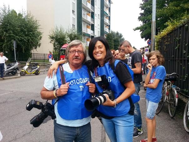 Fotoreporter Antonio Pisoni con sua nipote Uccia anche lei fotoreporter