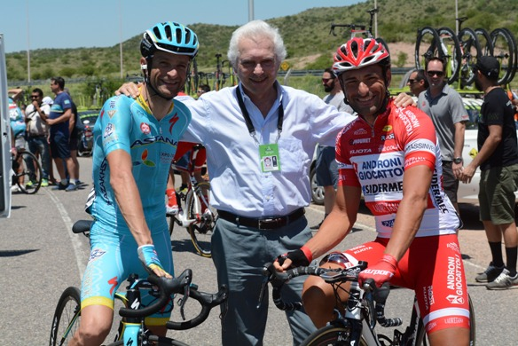 Da sx, Scarponi, Savio e Chicchi al 10^ Tour di San Luis in Argentina