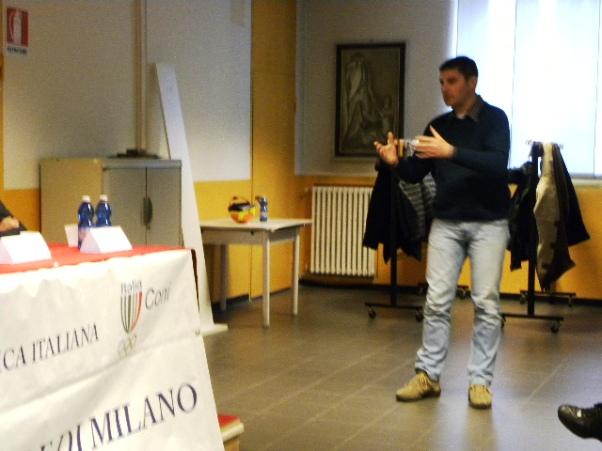 L'intervento del Consigliere provinciale Fabio Banfi (Foto Nastasi)