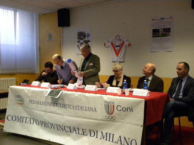 Valter Cozzaglio, Presidente FCI Milano e Massimo Maria Molla Presidente Avis Milano con gli altri Relatori