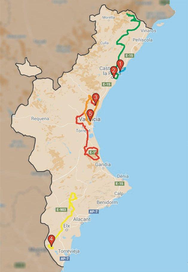Planimetria Generale della 67^ Vuelta Valenciana