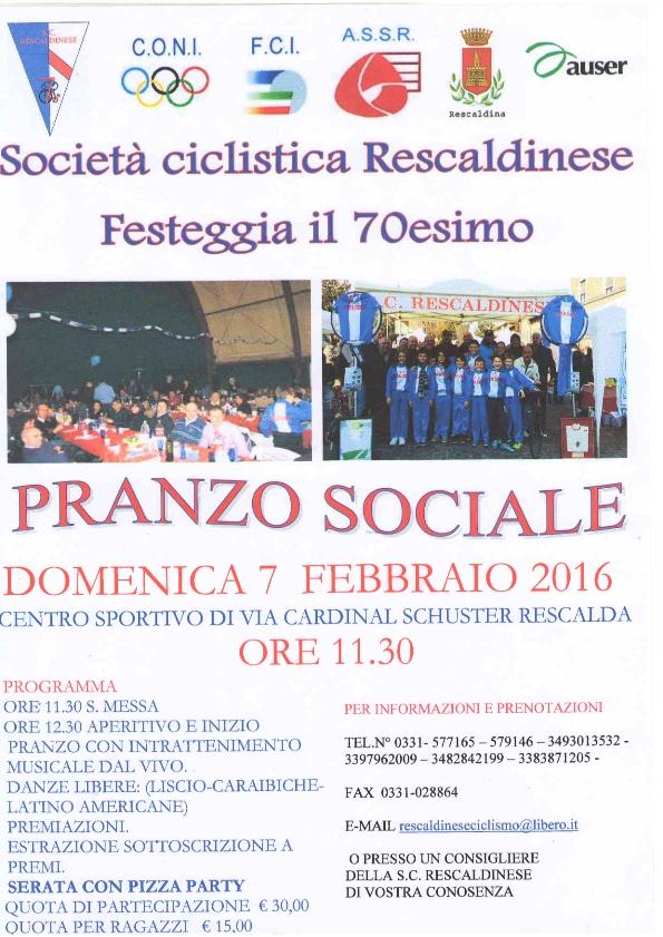 02.02.2016 - LOCANDINA FESTA DEL 70^
