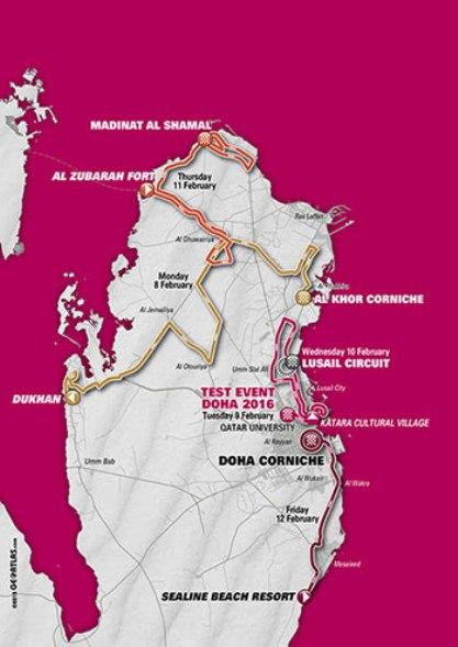 Planimetria del Qatar Tour