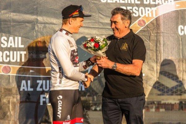 Soren Andersen, Maglia Bianca del Giro del Qatar (Foto ASO)