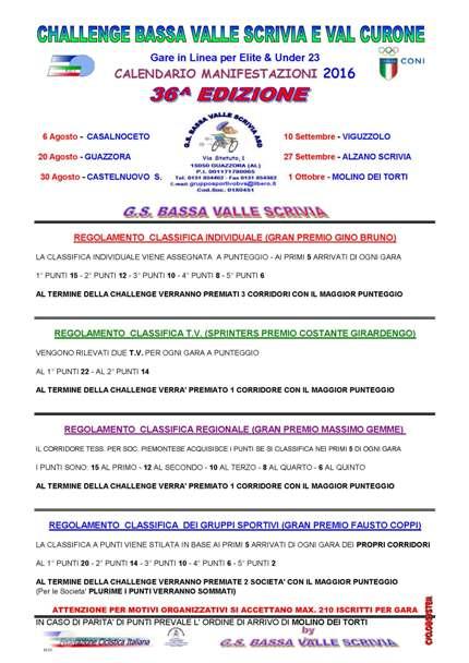 """09.02.2016 – Guazzora (Piemonte) – Ciclismo : Ecco la 36° edizione del """"Trofeo Ciclistico Bassa Valle Scrivia e Val Curone""""-(collaborazione tecnica di Gianfranco Moretti)"""