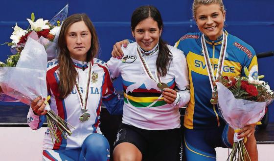 Ramona Forchini in maglia di Campionessa del Mondo