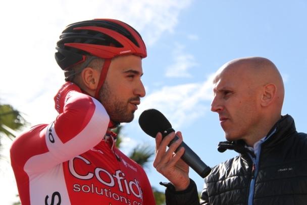Bouhanni intervistato (Foto Jean Claude Faucher)