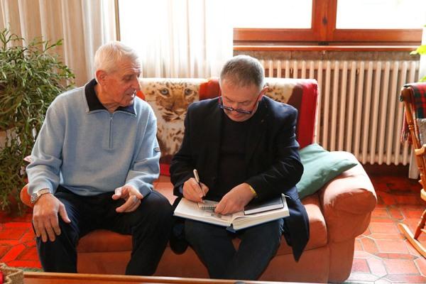 L'intervista a Fezzardi (Foto Pisoni)