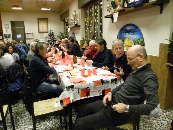 Santangelo ad uno scambio auguri tra i Soci del GS Jerago (Foto Nastasi)
