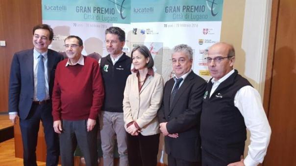 Autorità^ alla presentazione del 70° GP Citta^ di Lugano