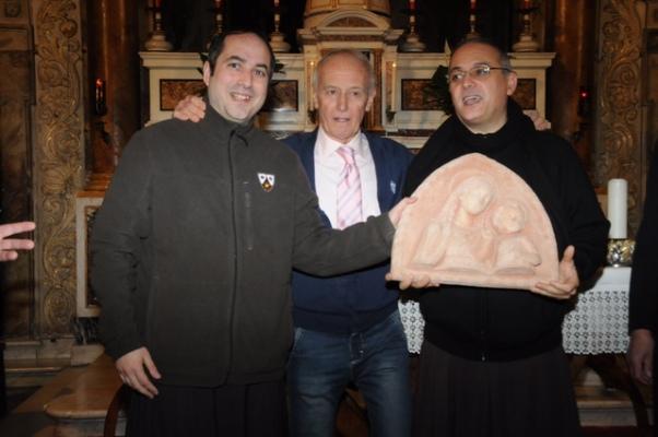 da dx, Padre Nicola, Poggiali e Padre Luca (Foto Luca Venturi)