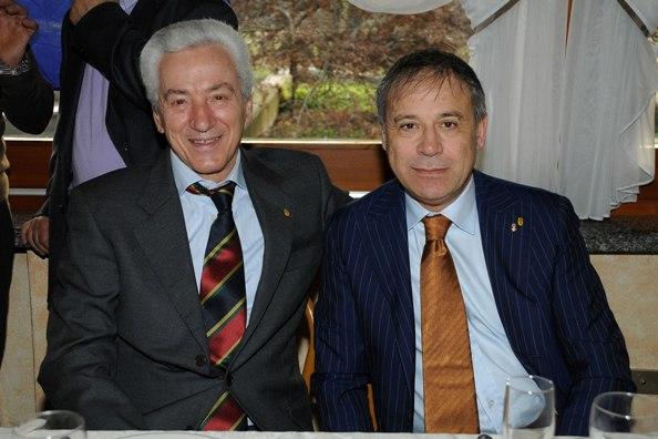 Da sx Lionello Fantoni presidente in carica e  e Pietro Cacciamani past presidente Biringhello