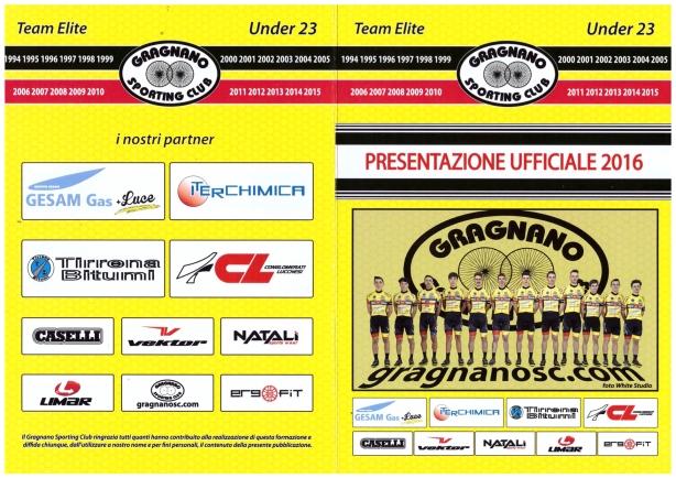 Organigramma e formazione 2016 Gragnano Sporting Club