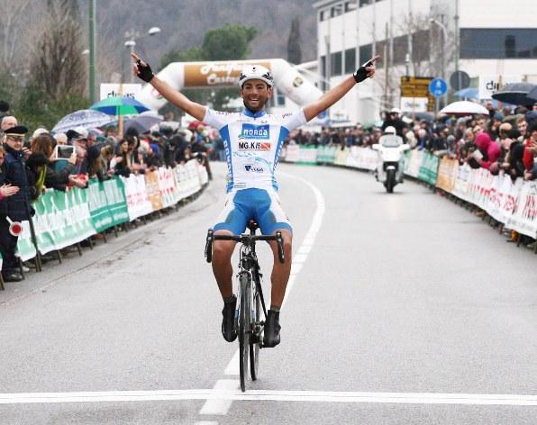 (Foto Rodella) - La vittoria di Michele Gazzara a Prevalle nella 92^ Coppa San Geo