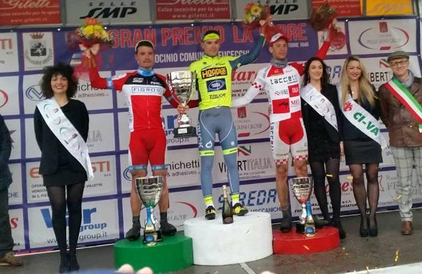 da sx, Raffaele, Corra^ e Bernardini, Podio del 54^ GP La Torre