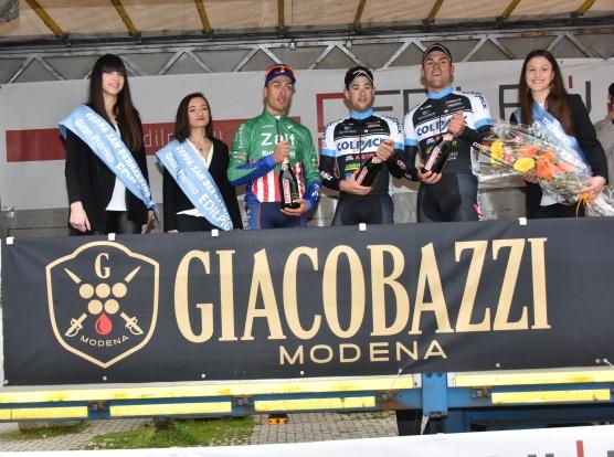 Podio della 57^ Coppa San Bernardino, da sx Bresciani, Minali e Troia (Foto di : Armanden-Nonantola)
