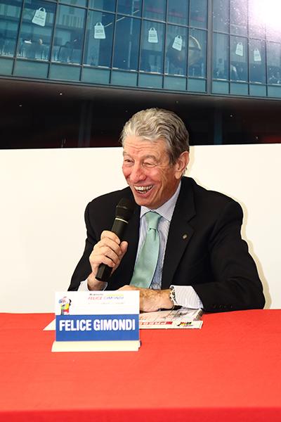 Felice Gimondi in conferenza stampa (Foto Kia Castelli)