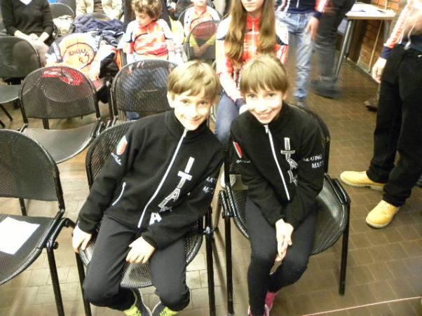 I gemelli Marta e Matteo Nalbone, Pattinatori, aspiranti a partecipare alle prossime Olimpiadi di Rio (Foto Nastasi)