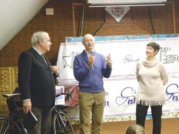 Marino Vigna con Rossella Galbiati e il Conduttore Sergio Meda (Foto Nastasi)