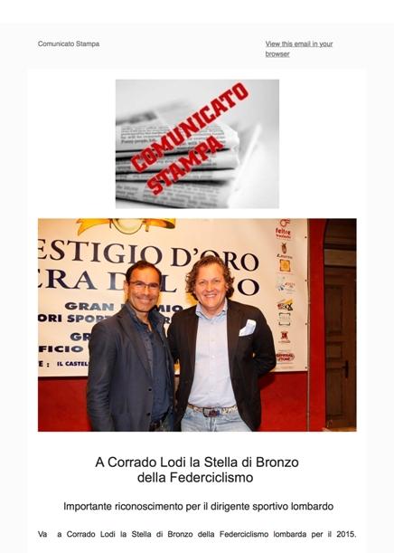 Ciclismo - Assegnata a Corrado Lodi la Stella di Bronzo-1