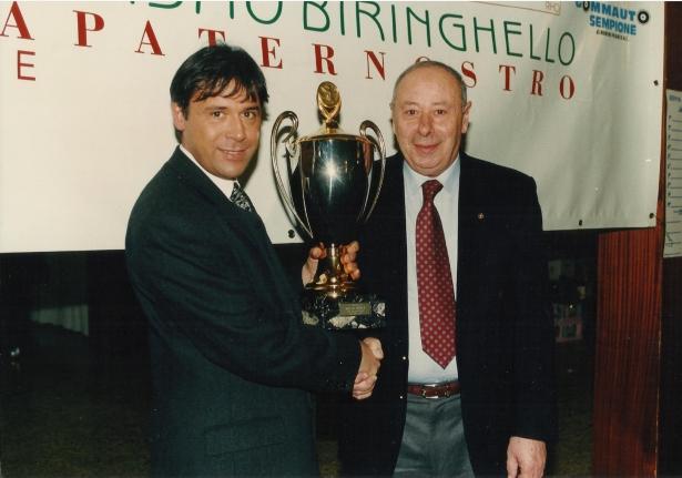 da sx, dr. Pietro Cacciamani e Andrea Dovera Presidente Ciclistica Biringhello dal 1981 al 1991 (deceduto 29.02.2016)