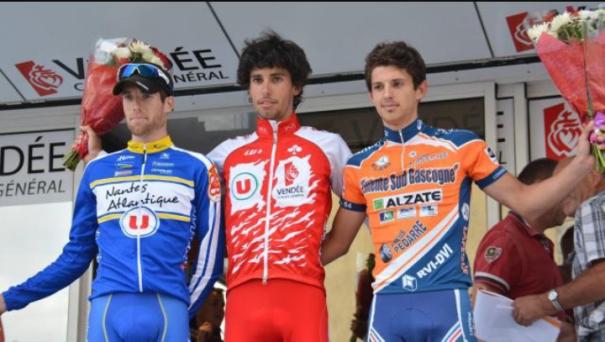 Al centro del podio, Romain Guyot