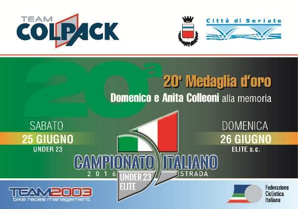 04.03.2016 - LOGO CAMPIONATI ITALIANI SU STRADA ELITE 6 U23