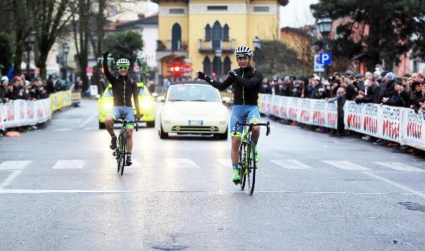 A destra Pacinotti, con Savini sulla linea del traguardo. (Foto Soncini)