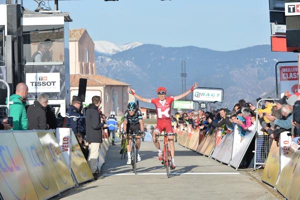 Paris-Nice 2016 - 12/03/2016 - Etape 6 : Nice / La Madone d'Utelle (177km) - ZACHARIN Ilnur, Katusha, vainqueur de l'étape, THOMAS Geraint, Team SKY, 2ème