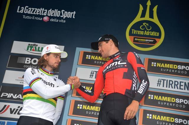 Tirreno Adriatico cycling race-Braccio di ferro Sagan-Van Avermaet (Ansa)