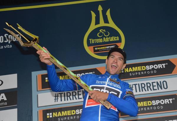 Tirreno Adriatico cycling race - Van Avermaet col Tridente (Ansa)