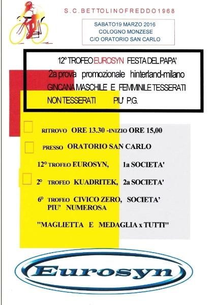 19.03.2016 - VOLANTINO FESTA DEL PAPA' NUOVO (2) - Russomanno