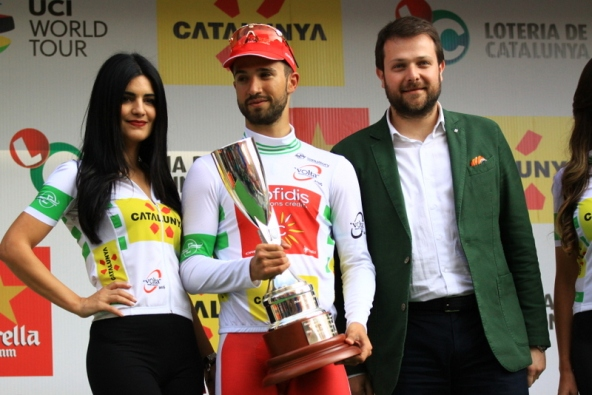 La premiazione di Bouhanni (Foto JC Faucher)