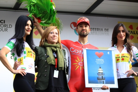 Nacer Bouhanni sul podio (JC Faucher)