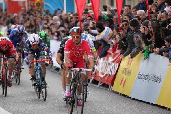 Nacer Bouhanni nettamente primo a Calella (JC Faucher)