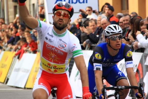 Bouhanni e il gesto della vittoria (JC Faucher)