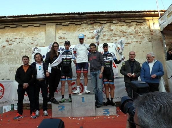 Il podio degli Elite-U23 (Foto Paolo Biondo)