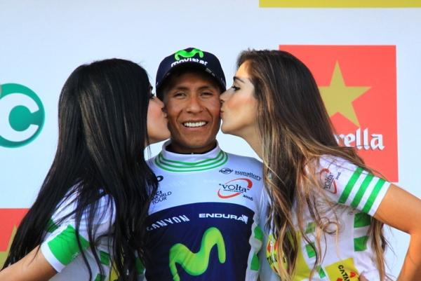 Quintana e il bacio delle miss (Foto JC Faucher)